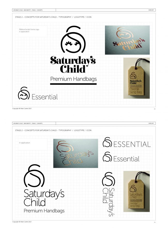 Saturday's Child Branding Project 2